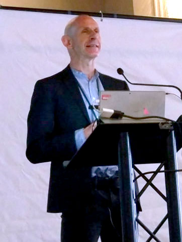 Graham Music presenting at a conference